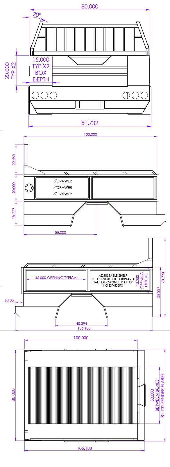 Truck Bed Quater Panels